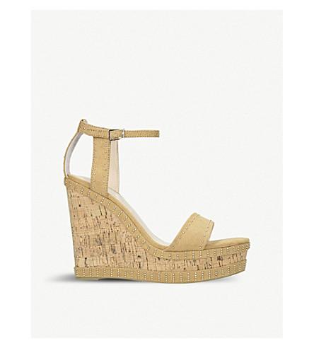 CARVELA Kissmee studded suede wedge sandals (Camel