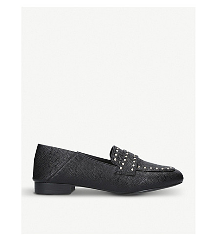 MISS KG Maize studded loafers (Black