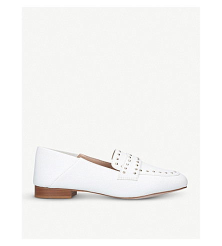MISS KG Maize studded loafers (White