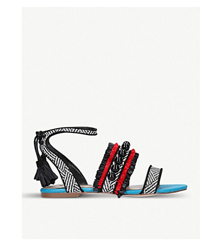 MISS KG Rockie woven sandals (Blk/other