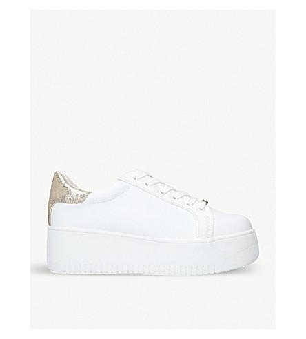 MISS KG Lassie platform trainers (White