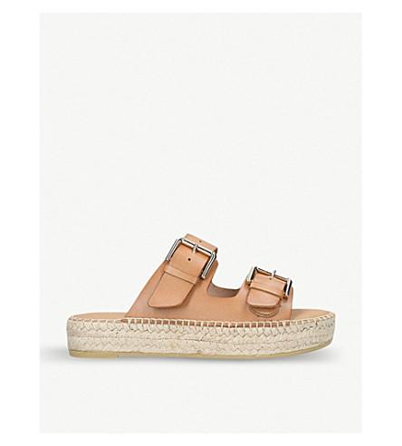 CARVELA Klever leather flatform sandals (Tan