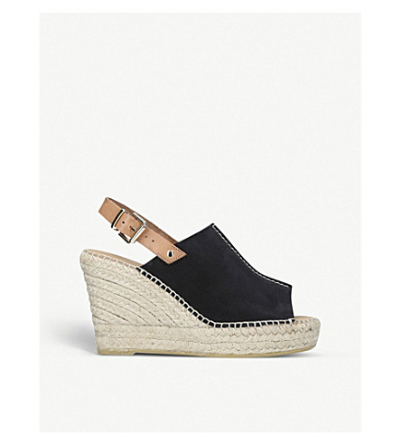 CARVELA Black Kloud suede wedge Black sandals CARVELA Kloud suede sandals CARVELA wedge UYxX66
