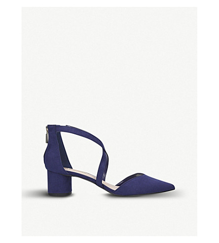 MISS KG Angel suede sandals (Navy