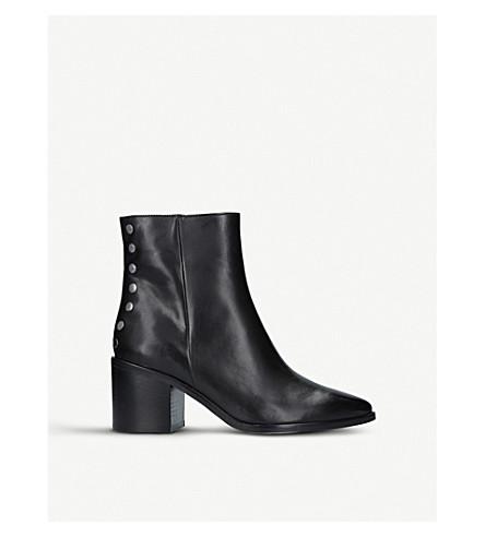 CARVELA Slightly stud-detail leather ankle boots (Black