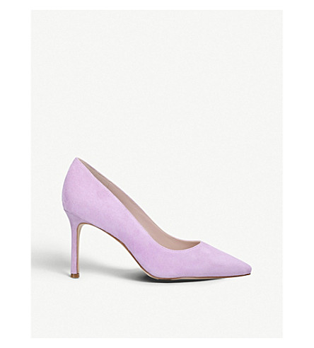 NINE WEST Emmala suede courts (Lilac