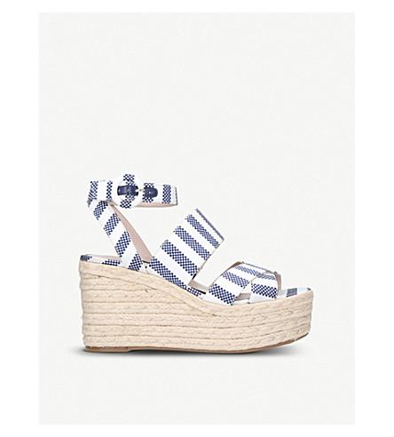 NINE WEST Kushala wedge heel sandals (Blue+other