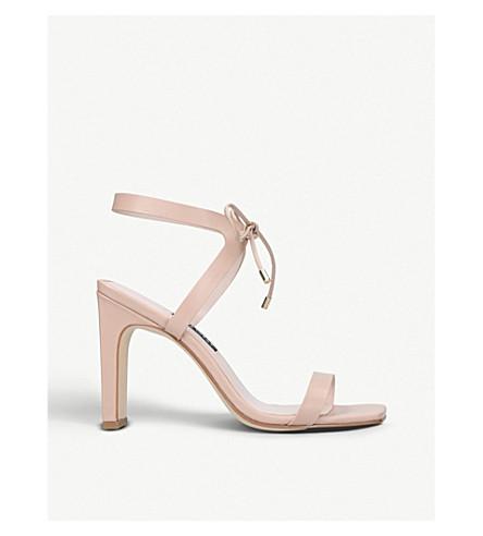 NINE WEST Longitano leather heeled sandals (Nude