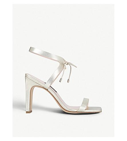NINE WEST Longitano metallic leather heeled sandals (Gold