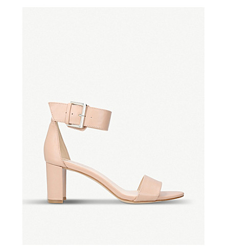 NINE WEST Playdown faux-leather heeled sandals (Nude