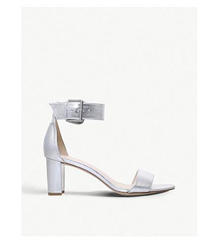 NINE WEST Playdown metallic heeled sandals (Silver