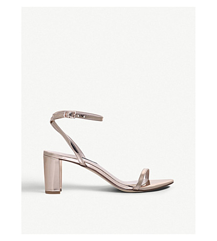 NINE WEST Provein metallic two-part heeled sandals (Gold