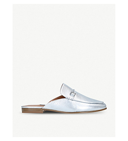 NINE WEST Walkos metallic leather loafers (Silver