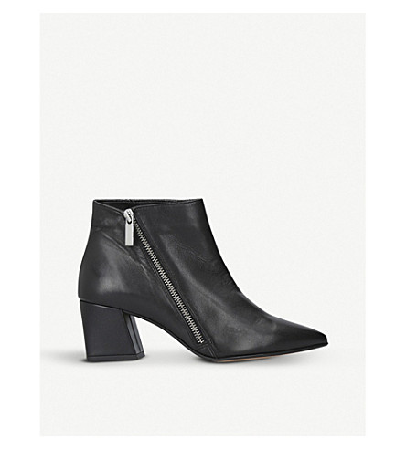 CARVELA Signet zipped leather ankle boots (Black