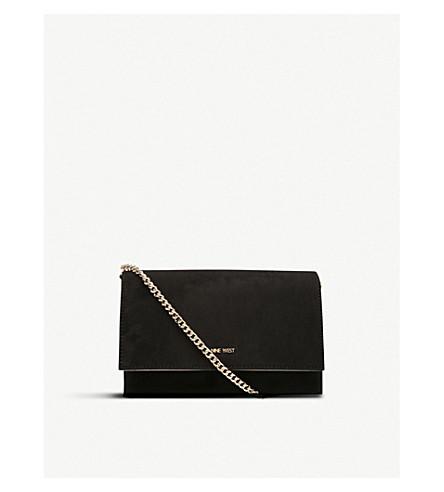 NINE WEST Anndi suedette shoulder bag (Black