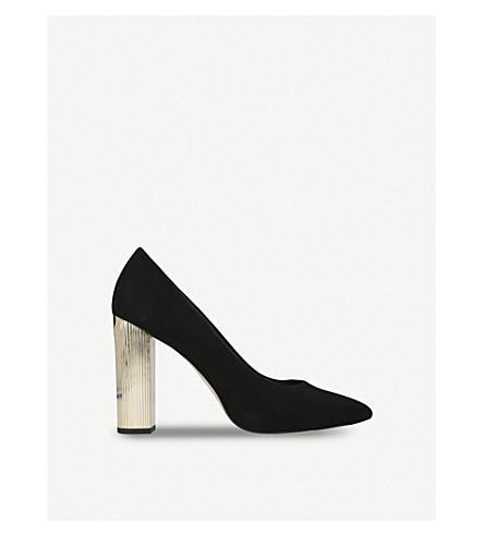 MICHAEL MICHAEL KORS Paloma metallic-heel suede courts (Black