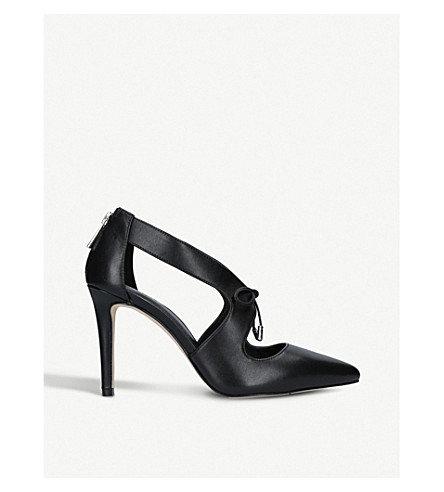 MICHAEL MICHAEL KORS Romee cut-out leather courts (Black