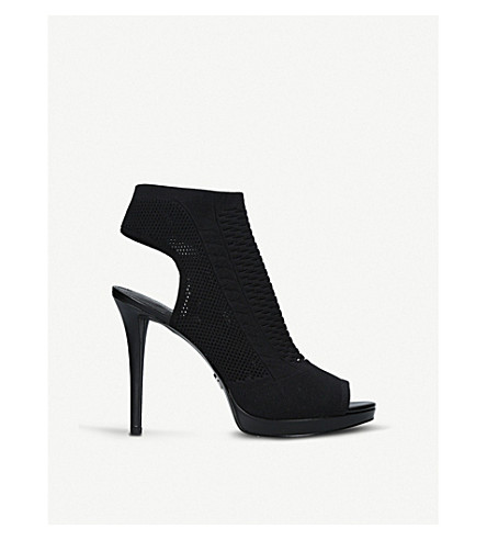 MICHAEL MICHAEL KORS Tyra stretch-knit heeled sandals (Black