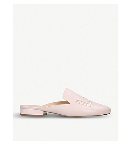 MICHAEL MICHAEL KORS Franny Love leather mules (Pale+pink