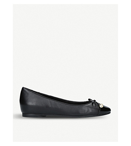 MICHAEL MICHAEL KORS Gia pearl-embellished leather flats (Black