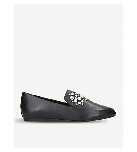 MICHAEL MICHAEL KORS Gia embellished leather loafers (Black
