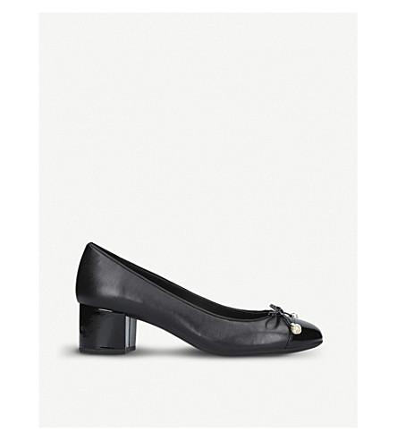 MICHAEL MICHAEL KORS Gia bow leather court shoes (Black