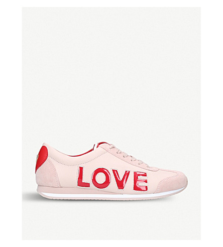 MICHAEL MICHAEL KORS Kaile leather trainers (Pale+pink