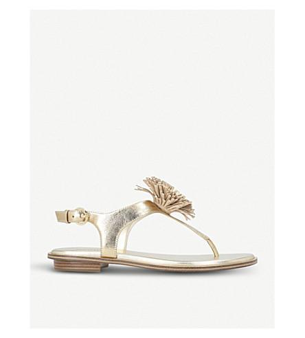 MICHAEL MICHAEL KORS Lolita metallic leather sandals (Gold