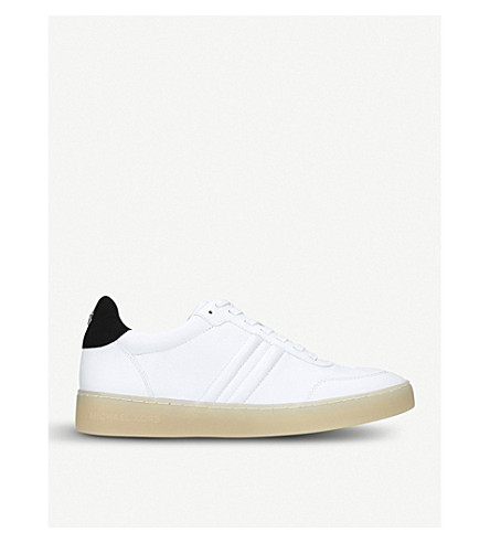 MICHAEL MICHAEL KORS Pia leather trainers (White