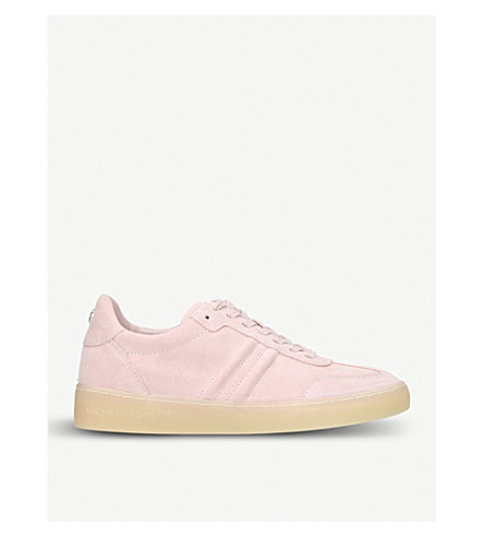 MICHAEL MICHAEL KORS Pia leather trainers (Pale+pink