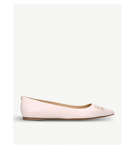 MICHAEL MICHAEL KORS Sia love studded leather flats (Pale+pink