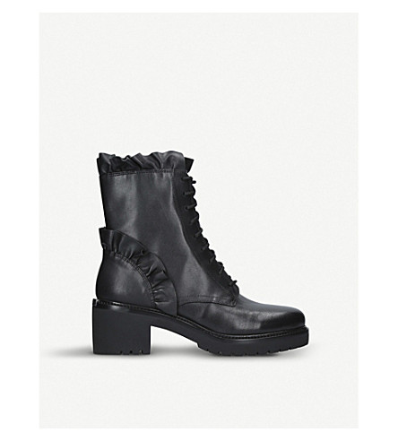 MICHAEL MICHAEL KORS Bella ruffled leather boots (Black