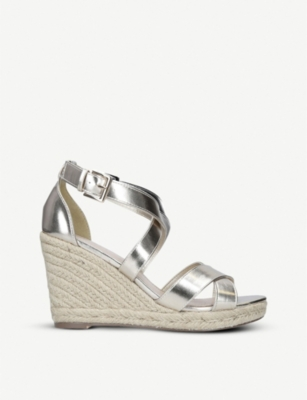 Smashing metallic faux-leather sandals(7863224)