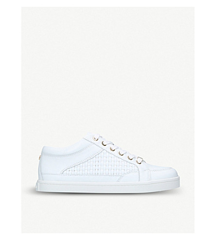 CARVELA Legacy woven leather trainers (White/oth