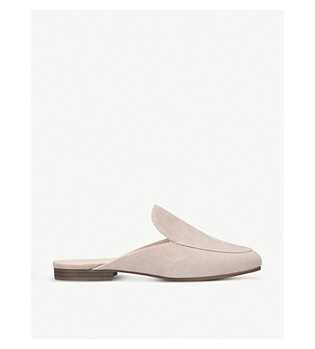 Malin suede backless loafers