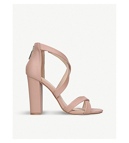 KG KURT GEIGER Faun2 faux-leather sandals (Nude