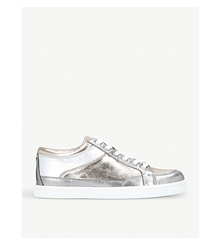 CARVELA Legacy metallic leather trainers (Pewter