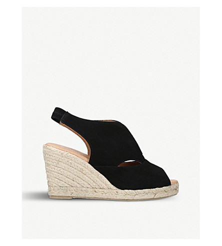 CARVELA COMFORT Sara suede espadrille wedge sandals (Black