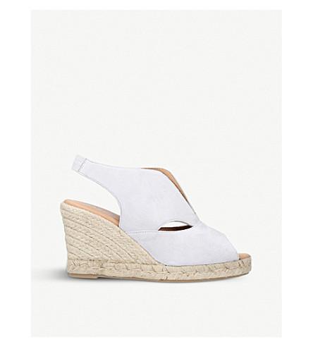 CARVELA COMFORT Sara suede espadrille wedge sandals (Grey