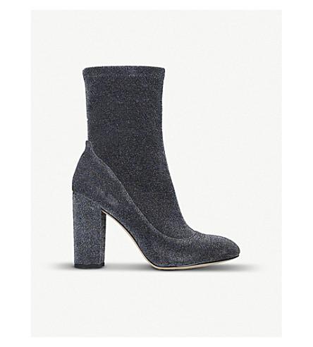 SAM EDELMAN Calexa glitter-mesh ankle boots (Blue/drk.c
