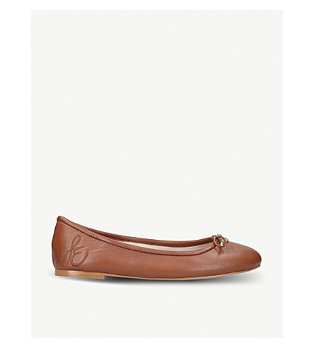 SAM EDELMAN Felicia leather ballet flats (Tan