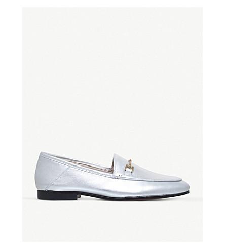 SAM EDELMAN Loraine metallic leather loafers (Silver