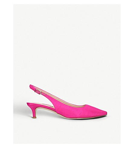 SAM EDELMAN Ludlow metallic leather slingback kitten heels (Fushia