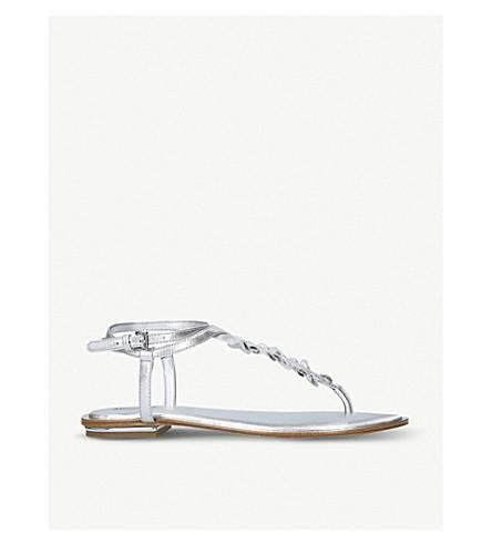 MICHAEL MICHAEL KORS Bella leather sandals (Silver