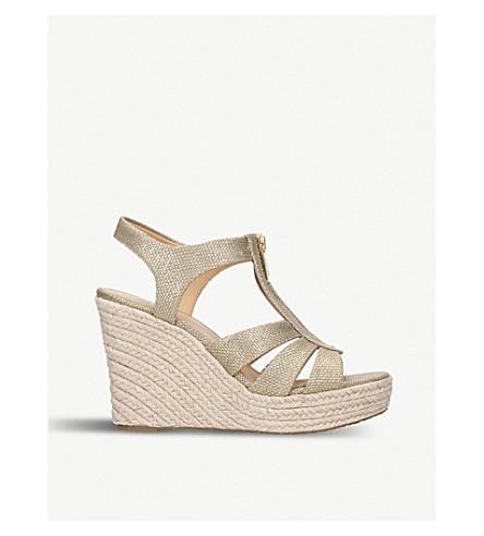 MICHAEL MICHAEL KORS Berkley jute-wedge sandals (Gold