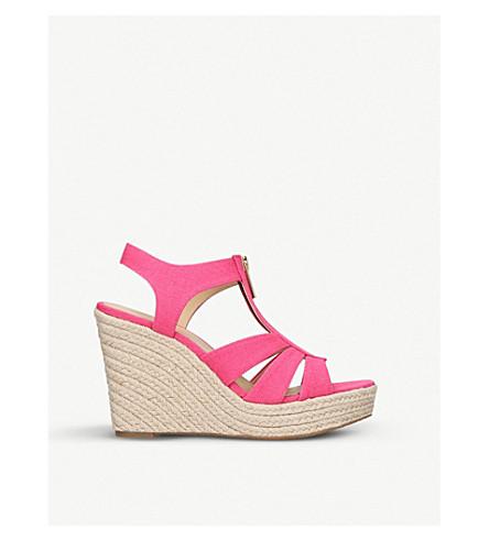 MICHAEL MICHAEL KORS Berkley jute-wedge sandals (Pink