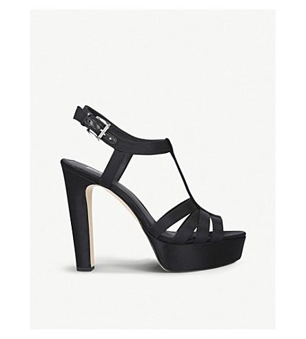 MICHAEL MICHAEL KORS Catalina heeled satin sandals (Black