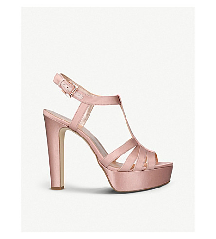 MICHAEL MICHAEL KORS Catalina heeled satin sandals (Pale+pink