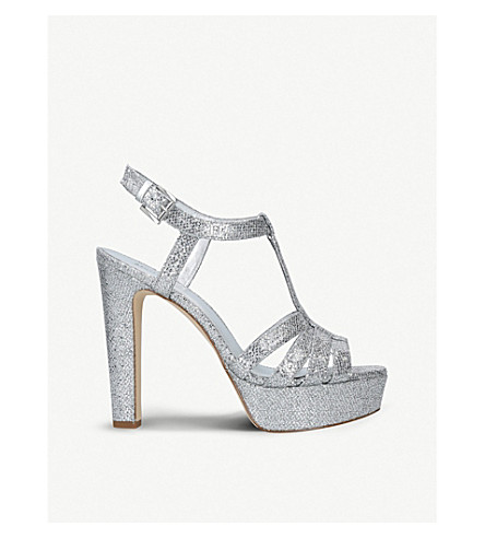 MICHAEL MICHAEL KORS Catalina heeled mesh sandals (Silver