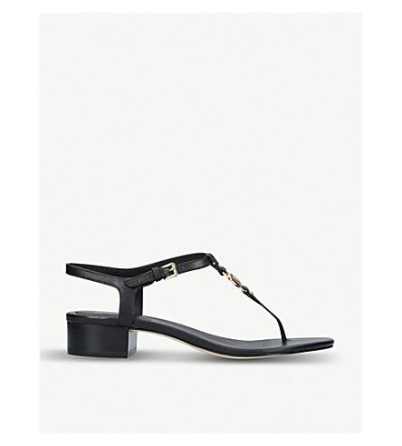 MICHAEL MICHAEL KORS Cayla logo-detail leather sandals (Black
